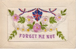 """Embroidered postcard """"Forget Me Not"""""""