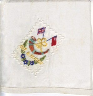 Embroidered Handkerchief Oxfordshire and Buckinghamshire Light Infantry