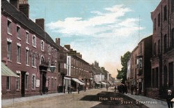 Postcard of the High Street, Stony Stratford