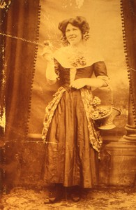 Slides of Nellie Smith and others in fancy dress