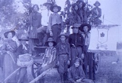Slide of Pageant Group with Wagon and 'Canada' banner