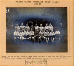 Olney RFC 1st XV team 1934-35