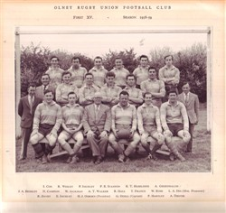 Olney RFC 1st XV team 1958-59