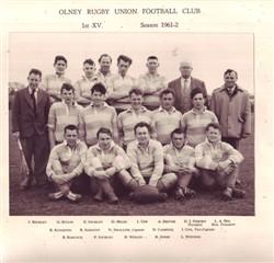 Olney RFC 1st XV team 1961-62