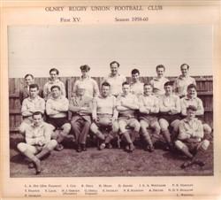 Olney RFC 1st XV team 1959-60