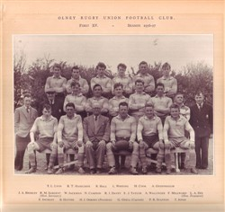 Olney RFC 1st XV team 1956-57