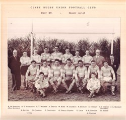 Olney RFC 1st XV team 1957-58