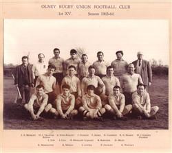 Olney RFC 1st XV team 1963-64