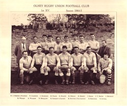 Olney RFC 1st XV Season 1964-65