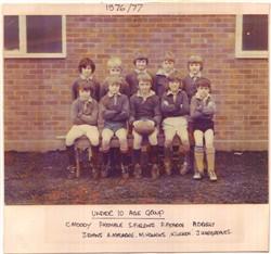 Olney RFC Under 10 Age Group 1976-77
