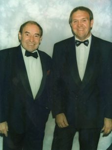 Cliff Morgan & John Silk at Milton Keynes RUFC dinner 1997