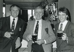 John Silk & Jeff Butterfield in the Greenleys clubhouse