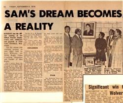 Sam's Dream Becomes A Reality