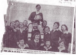 Newspaper cutting, photograph of Bletchley RUFC cup-winners 1973