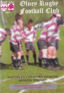 Olney Rugby Club Southern Counties (North) Season 2006-7 Brochure