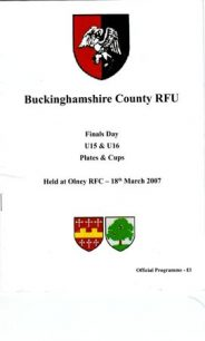Buckinghamshire County RFU U15s & U16s Finals Day