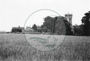 Photograph of St Mary Magdalen Church, Willen (1971).