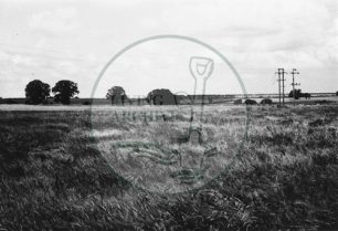 Photograph of Bradwell Abbey farmlands (1971).