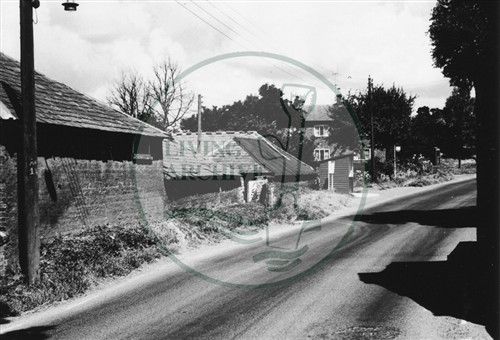 Photograph of main road through Old Bradwell (1971).