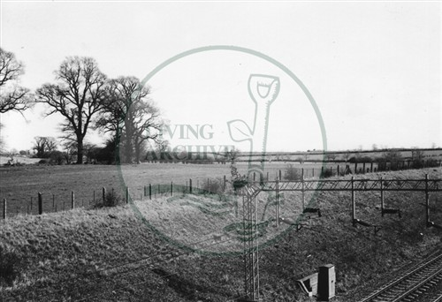 Photograph of railway lines taken from Old Bradwell bridge (1971).