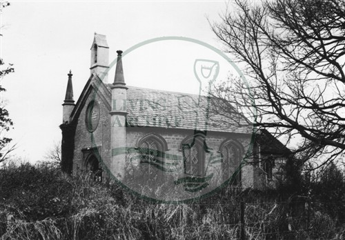 Photograph of church near Woughton on the Green (1971).