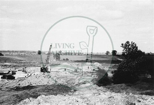 Photograph of building site south of Stony Stratford (1971).