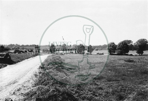 Photograph of fields being developed south of Stony Stratford (1971).