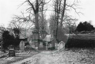 Photograph of view from Willen churchyard (1971).