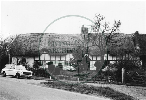Photograph of cottages at Caldecotte (1971).