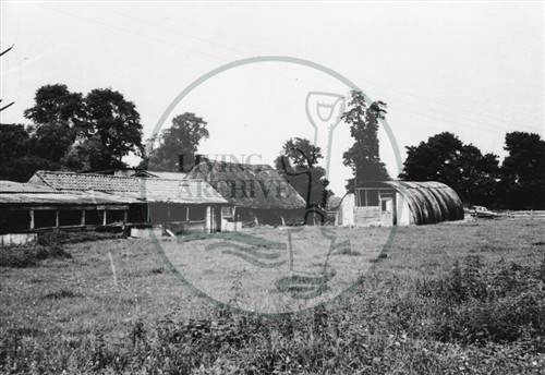 Photograph of old farm buildings at Great Linford (1971).
