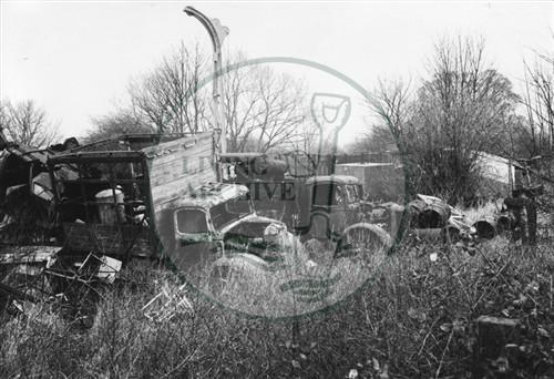 Photograph of New Bradwell Scrap yard (1971).