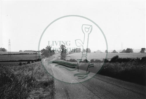 Photograph of road between New Bradwell and Old Bradwell (1971).