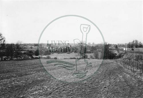 Photograph of Old Bradwell fields (1971).