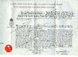 Marriage licence for Frank H. Brown and Beryl L. Taylor.