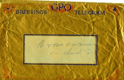 Telegram envelope.