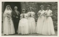 Wedding photograph of Jean Goodman.