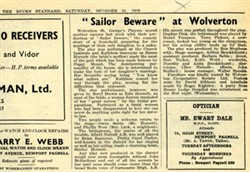 Sailor Beware' at Wolverton.