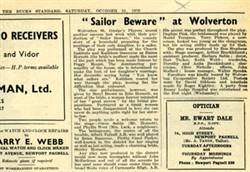 Sailor Beware' at Wolverton.