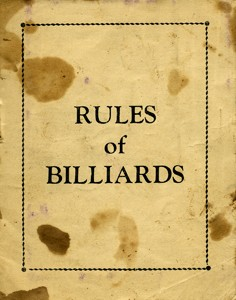 Rules of Billiards.
