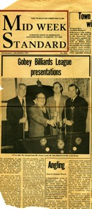Gobey Billiards League presentations.