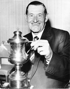 Photograph of Wolverton Bowls Club singles winner.