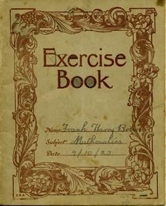 Exercise book for Mathematics.