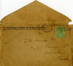 Envelope with three cards enclosed.