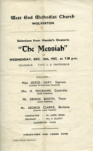The West End Methodist Church Wolverton performance of 'The Messiah'.