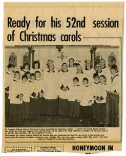 Ready for his 52nd session of Christmas Carols.