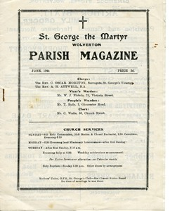 St George the Martyr Wolverton Parish Magazine, June 1944.