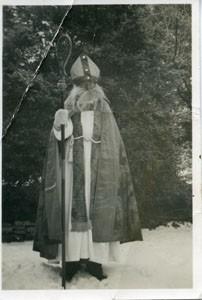 Frank Brown as St  Nicholas.