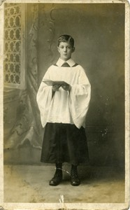 Jack Taylor in his choir boy robes.