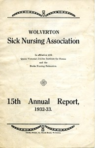 Wolverton Sick Nursing Association Annual Report 1932-33.
