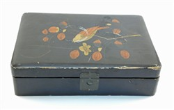 Black lacquered box.